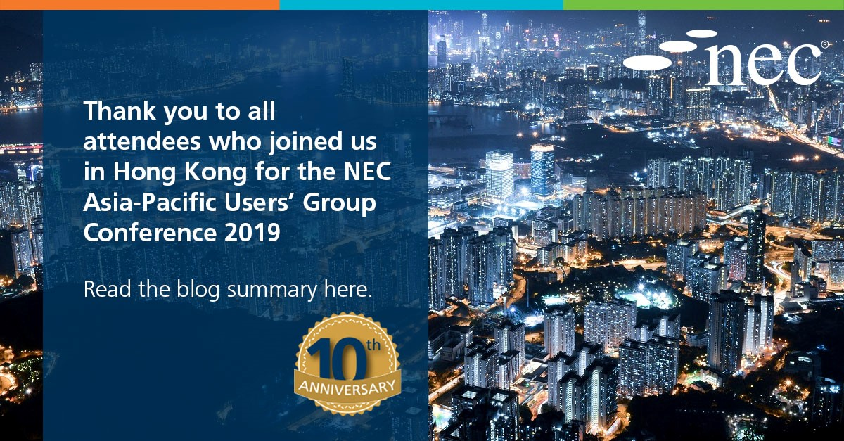 NEC host successful Asia Pacific Users' Group Conference in Hong Kong