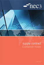 NEC3: Supply Contract Guidance Notes