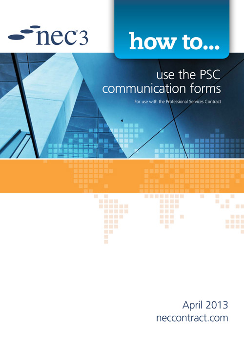 NEC3: How to use the PSC communication forms