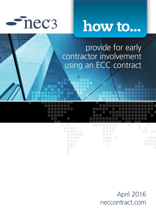 NEC: how to Provide for early contractor involvement using an ECC Contract