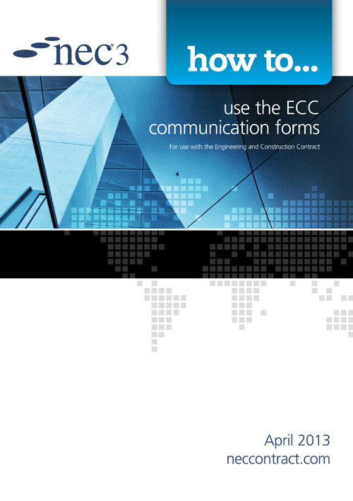 NEC3: how to use the ECC communication forms