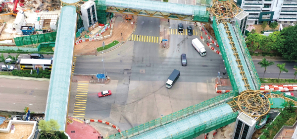 CEDD contractor for Sham Shui Po footbridge praised